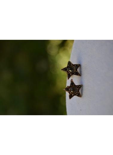 Stoneage Yıldız Yıldızlı Bayan Küpe Bronz
